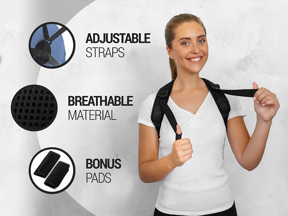 WARMLIFE Back Posture Corrector Belt with Adjustable Magic Straps of High Quality to Correct Humpback Non Surgically Helps to Improve the Correct Posture 4