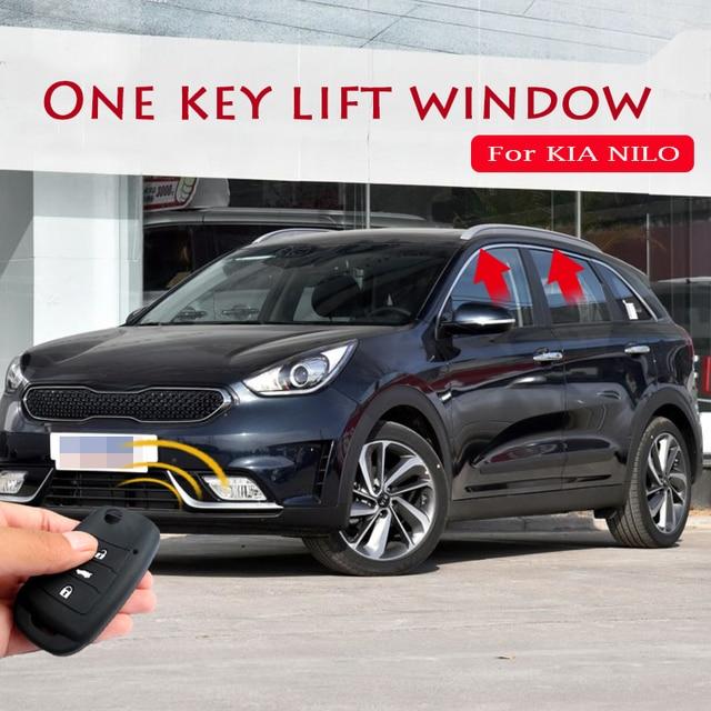 Para KIA NIRO levantador de ventana de un botón de elevación de la ventana de Control remoto de bloqueo de la ventana del vehículo