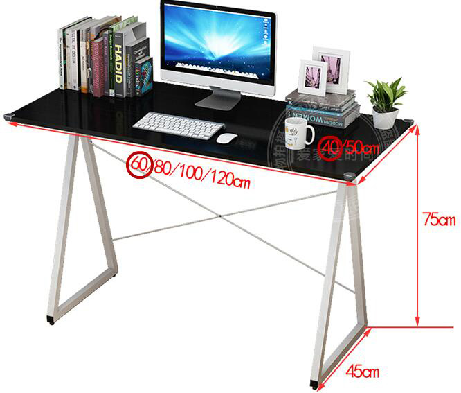 100*50CM Modern Laptop Table Notebook Computer Desk Home Study Desk Office Writing Desk
