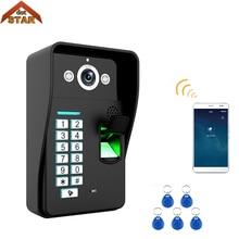 Проводной Wi-Fi считыватель отпечатков пальцев RFID карт пароль видео телефон двери дверной звонок Домофон Система дверной звонок наружная камера