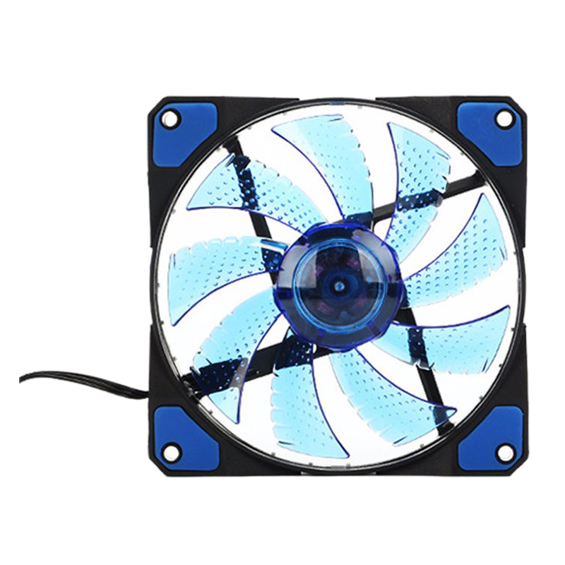 120mm PC Computer 16dB Ultra Silent 33 LEDs Case Fan Heatsink Cooler Cooling with Anti-Vibration Rubber 12CM Fan 12VDC 3P 4pin abs case with cooling fan heatsink removable top cover