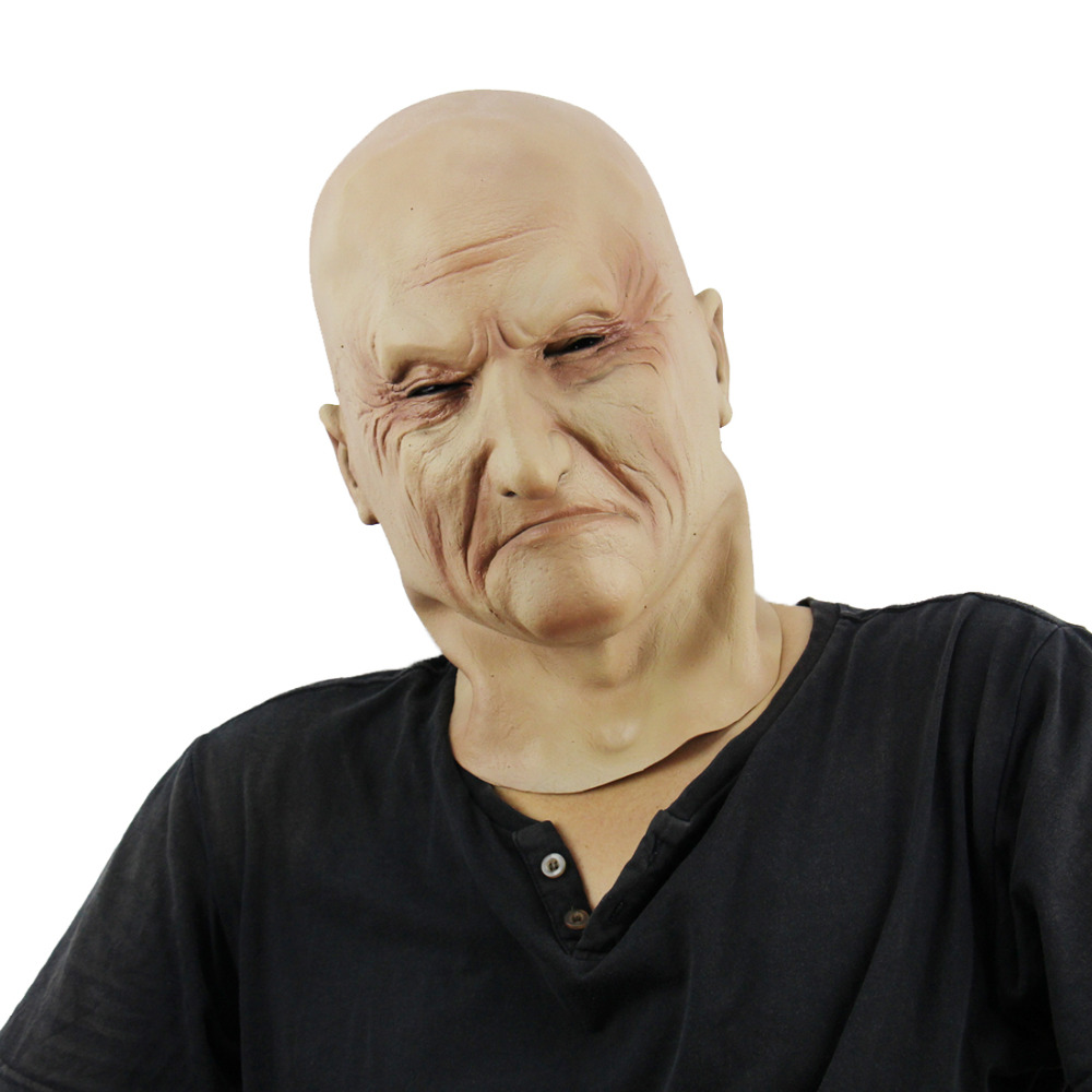 XMAS Realistic Latex Old Man Mask Male Disguise Halloween Fancy Dress Head Rubber Adult Party Masks Masquerade Cosplay Props