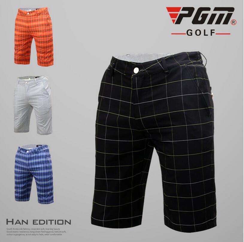 PGM British Style Golf Sportswear Shorts Mens Outdoor Sports Plaid Shorts Summer Breathable Quick Dry Golf Shorts Size 2XS-3XL