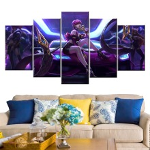 Home Decor Modular Canvas Picture 5 Piece Evelynn K/DA League of Legends LOL Game Painting Poster Wall For Wholesale