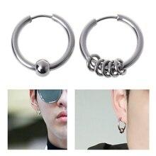 8mm-20mm Titanium Steel Circle Hoop Earring Cartilage Helix Piercing Earrings