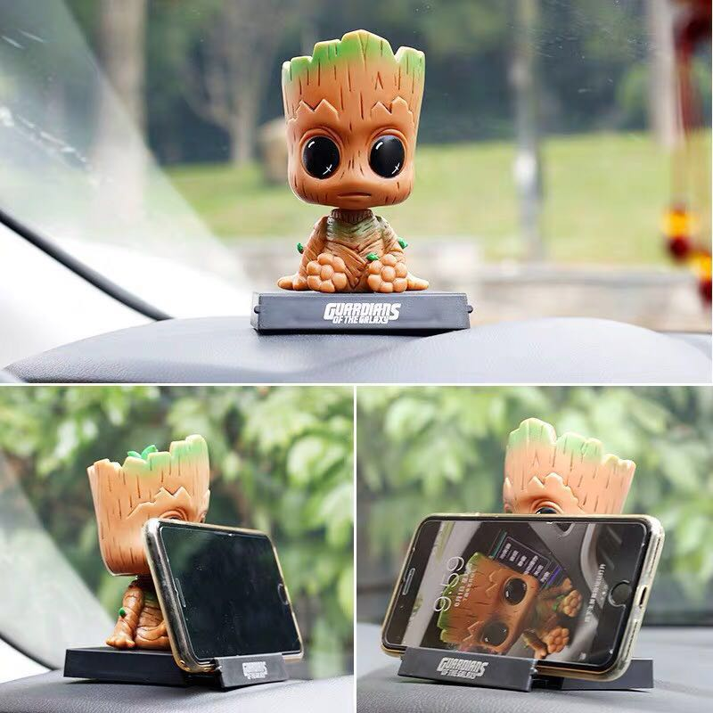 Image 5 - Car Ornament For Marvel The Avenger Action Figure Model Shaking Head Automotive Interior Cute Decoration Doll Toys Accessories-in Ornaments from Automobiles & Motorcycles