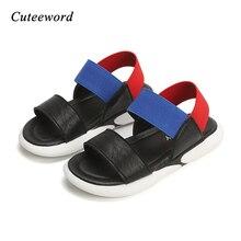 2019 New Children Sandals Summer Casual Kids Beach Shoes Boys Girls Sandals Non-slip Soft Bottom Baby Elastic Sandal White Black