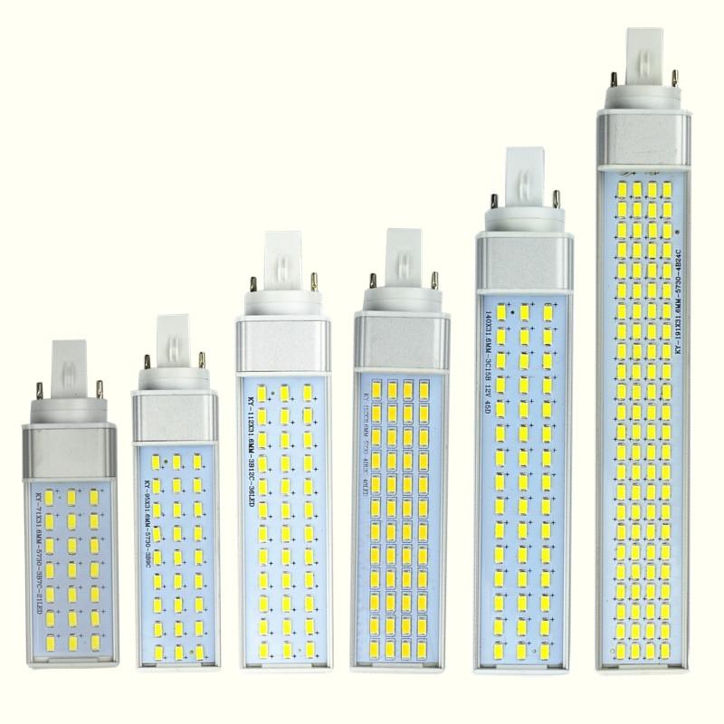 SMD 5730/5630 Spotlight 180 Degree AC85-265V Horizontal Plug Light 10W 12W 15W 18W 20W 25W E27 G24 G23 LED Corn Bulb Lamp Light cxhexin s10 12w gu10 12w 800lm 6000k 24 smd 5630 led white light bulb white silver ac 89 265v