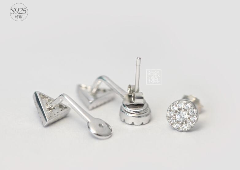 925 ασημένια σκουλαρίκια Λευκό CZ - Κοσμήματα - Φωτογραφία 5