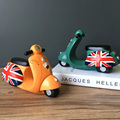 Vintage Britain Flag motorcycle toys Cute money save l orange green color motorcycle toy models collections toys for kids