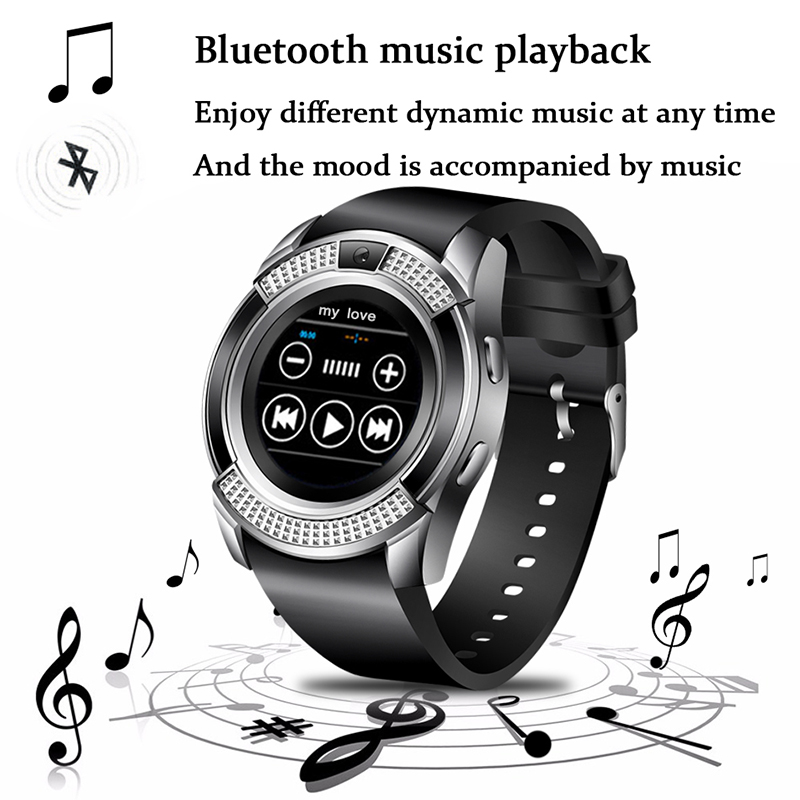 BANGWEI Bluetooth Smart Watch 1.22'' Round Screen Support SIM / TF Card Camera SmartWatch for Samsung Xiaomi Android Smartphone цена