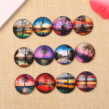 20pcs Tree Reflection Photo Pendat Glass Cabochon 30mm diy Round Dome Flatback Jewelry Necklace Accessories