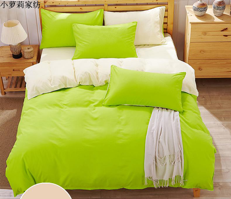 Naturelife Cotton Bedding Set Duvet Cover Sets Soft Bed Linen Flat Bed Sheet Set Pillowcase bed cover housse de couette