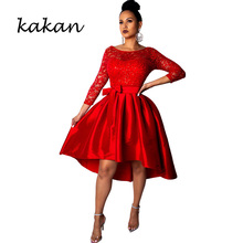 Kakan spring womens sequin dress lace fashion solid color big white red