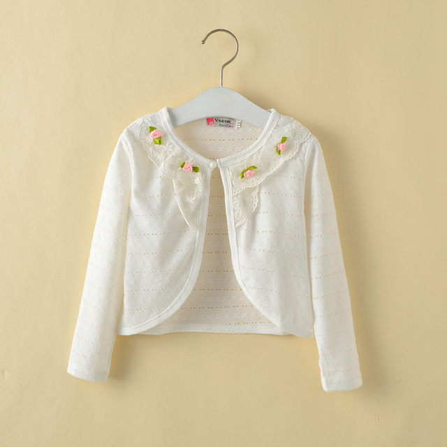 Aliexpress.com : Buy 1 10Y Fashion Hollow Thin White Cardigan ...