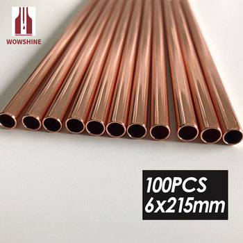 Wowshine FDA Certificate High Quality Rose gold Stainless Steel 304 Drinking Straws Straight 6mm*215mm 100PCS round ends