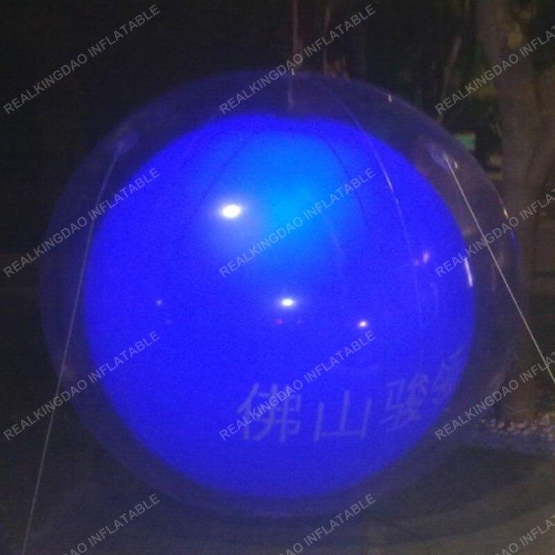 2.5 m dia Double couche mariage/soirée/noël/fête LED ballons gonflables