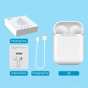 Image 4 - I9 tws bezprzewodowy zestaw słuchawkowy Bluetooth słuchawki stereo słuchawki sportowe z etui z funkcją ładowania dla Iphone Smart Phone słuchawki