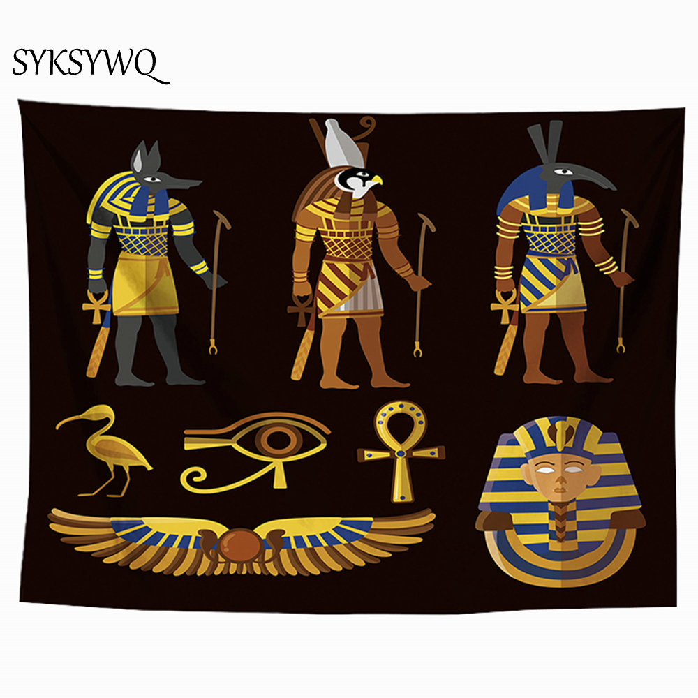Horus Egyptian Tapestry Home Decor Eyes Of Horus Blanket Tenture Murale Tissus Fabric Wall Hanging image