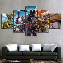Модульный Холст плакат для гостиная украшения дома 5 шт. игры мультфильм рисунок картины Современные стены книги по искусству рамки