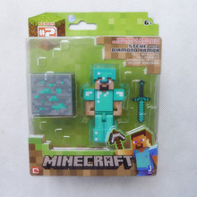 "Minecraft Overworld 3"" Diamond Steve Action Figure Toys & Games By Jazwares New in Box"