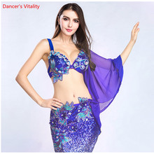 The New 2pcs. Luxurious Costume Women's Dancer Stage Show Wearing Bra +Triangle