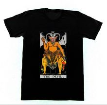 The Devil T8 Tshirt Ryder Tarot Card Fortune Telling Occult Witchcraft 2018 O Neck Summer Fashion New Hipster Summer Fashion