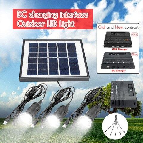 energia solar ao ar livre conduziu