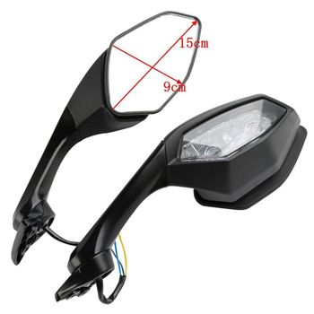 Motorcycle Motorbike Rearview Mirror LED Turn Signal Light For Yamaha YZF R6 2017 YZF R1 2015-2019 16
