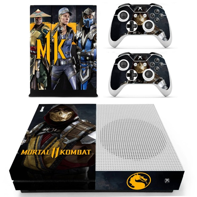 Mortal Kombat 11 One S Stickers For Xbox One S Skin Sticker vinilo pegatina For Xbox one Slim Console and Two Controller Skins