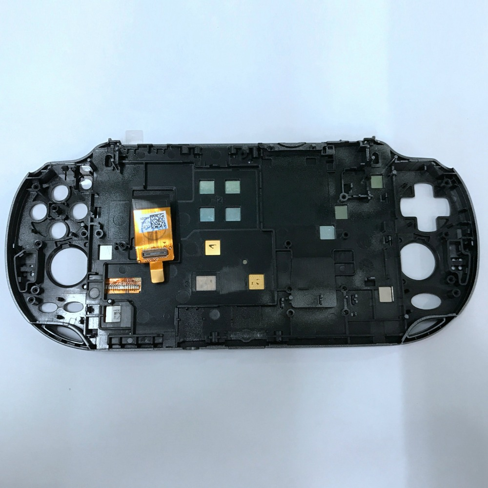 US $36 29 21% OFF|Replacement NEW Front Touch Screen Panel for PSVita 1000  PSV100 LCD Screen Display Touch Digitizer with Frame Faceplate Parts-in