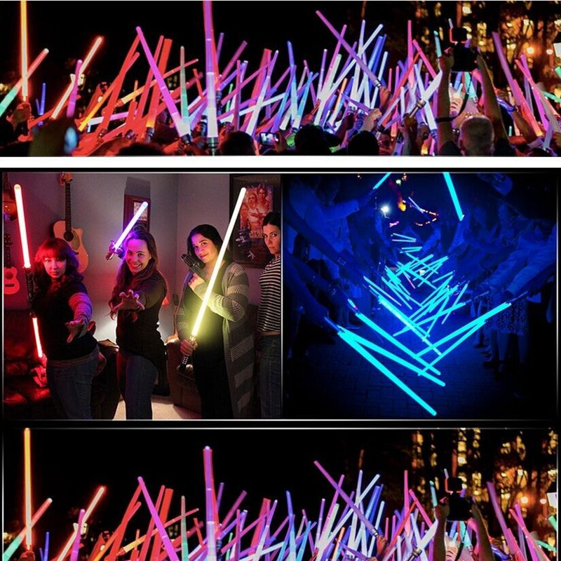 2pcs Cosplay Star Wars Lightsaber Sound Telescopic Led Flashing Light Sword Toys Weapons Sabers PVC Action Figure Toy Gifts boys