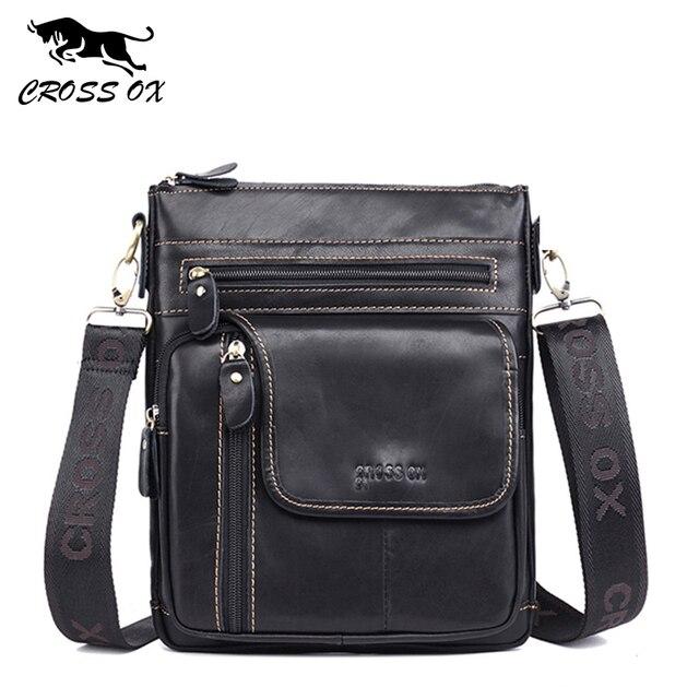 Кожаная сумка CROSSOX в классическом стиле SL425
