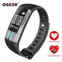 OGEDA Heart Rate Moniter Smart Watch Men ECG Monitoring Sports Health Fitness Tracker Blood Pressure Smart Bracelet Passometer
