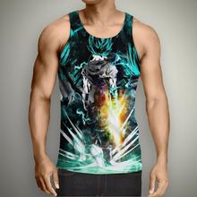 5025899dad66 Vest Dragon Ball Z T-shirt Super Saiyan 3d T Shirt Tees Tops Animation 3d  Vegeta Hip Hop Men boy Dbz Tee Shirts Tank Tops R2154
