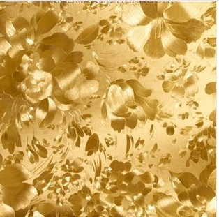 Modern Fashion Style Gold Foil Wallpaper Roll With Flower Pattern For KTV Wall Background Ceiling Paper In Wallpapers From Home Improvement On