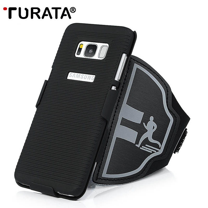 TURATA 2 in 1 Arm Wrist Band Strap Phone Case Cover Holder For Samsung Galaxy S8 /S8 Plus Running Sport Gym Arm Phone Bag