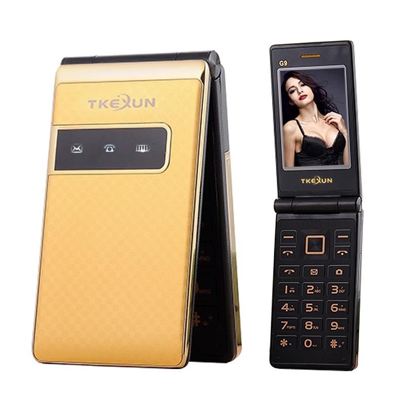 TKEXUN Flip Senior Mobile Phone Dual Sim Big Key 3 0 Touch Screen Handwriting Easy Working