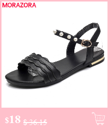 HTB1JB8alHZnBKNjSZFhq6A.oXXaq MORAZORA Plus size 34-46 New genuine leather sandals women shoes fashion flat sandals cow leather summer rhinestone ladies shoes