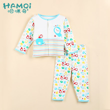Cotton men and women's baby underwear set spring new long sleeved infants and young children's pajamas children's wear