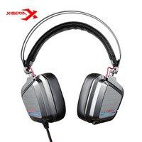 XIBERIA S25 7.1 רטט USB אור LED Gaming Headset אוזניות עם מיקרופון בס עמוק אוזניות משחקי מחשב חבילה הקמעונאי