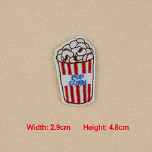 1PC Patches For Clothing Embroidery Popcorn Patches For Apparel Bags Hat Cap DIY Accessories