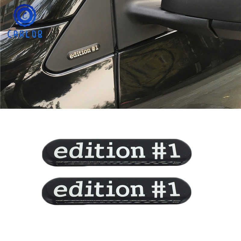 CARLOB pegatina de espejo lateral 3D edición #1 emblema insignia para Smart fortwo/forfour C453/W453 Roadster Accesorios