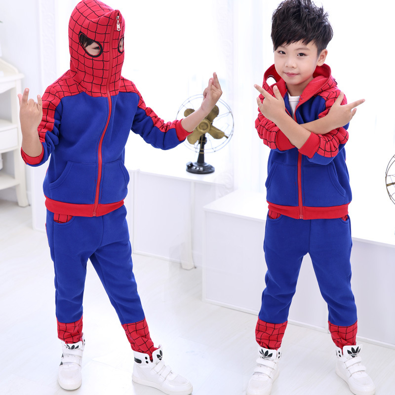 Children's Clothing  The Fall of 2015 New Small Children Sweater Spider Man Suit for Boys
