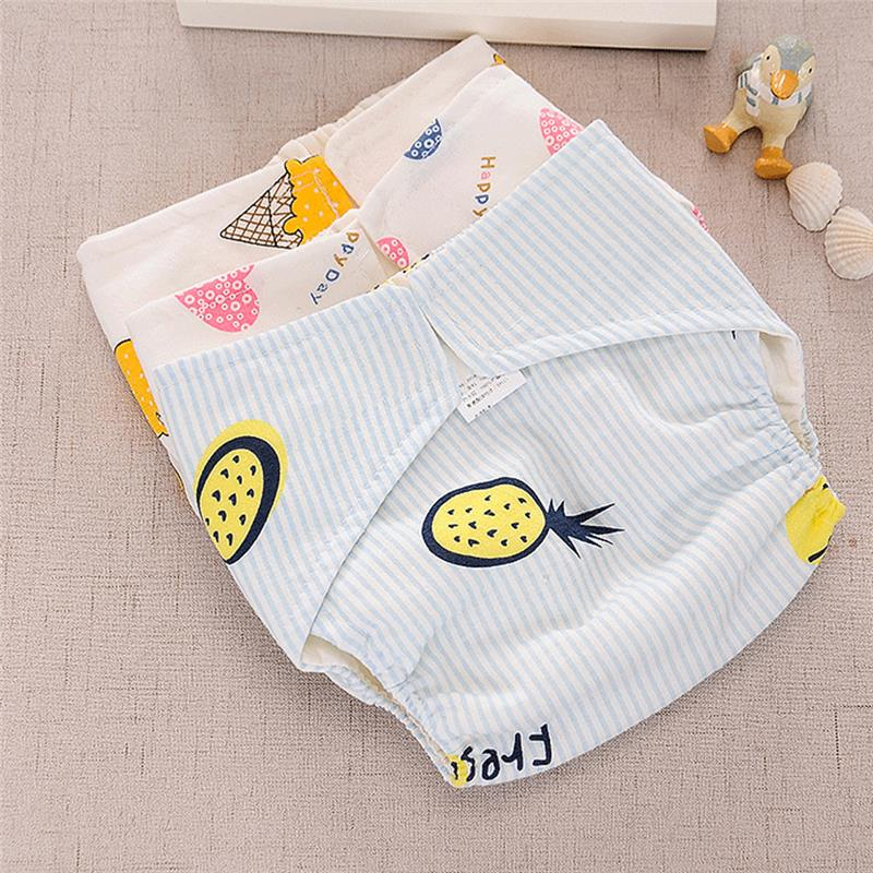 Cotton Baby Training Pants Panties Newborn Infant Diapers Reusable Cloth Diapers Nappy Cover Washable Infants Children Underwear