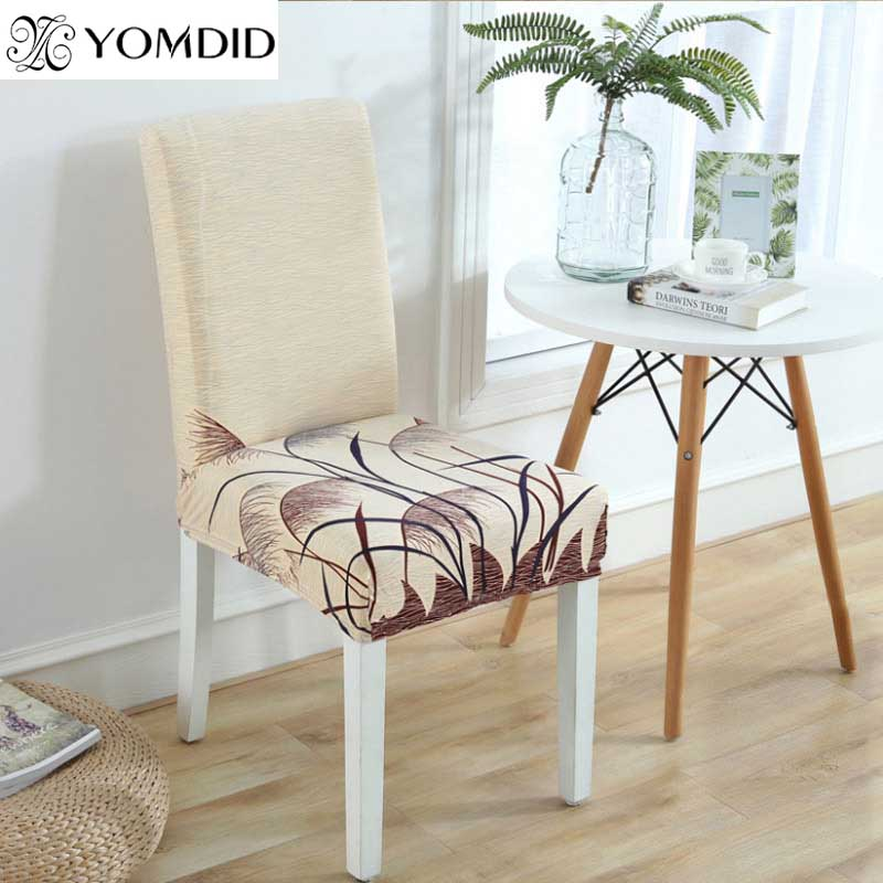 2Pcs/lot Chair Protector Cover Spandex Strech Dining Room Chair Covers Banquet Kitchen Printed Chair covers Cubierta de la silla