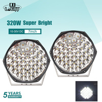 CO LIGHT Super Bright 7 320W LED Work Light Bar Led Beams Offroad LED Light Bar for 4WD 4x4 Trucks SUV ATV Boat 12v 24v LED Bar