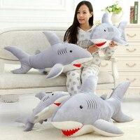 Stuffed Shark Plush Toy Shark Soft Toy Juguetes Oyuncak Girls Gifts Birthday Kawaii Giant Sharks Stuffed Animals Plush 70C0505