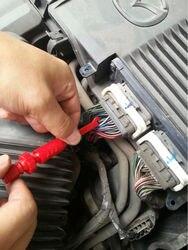 Clipes de teste de energia clipes de teste automotivos, piercing clipe de teste de banana de 4mm resistente à isolamento da sonda de piercing 1 vermelho   1 preto