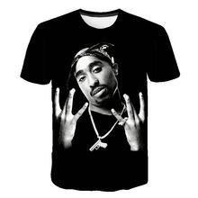2019 New Summer New Fashion Men Women t shirt Rapper 2pac Tu